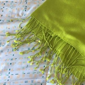 Accessories - Lime Green Pashmina Scarf